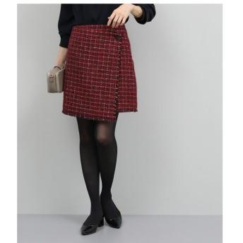 ROPE' / ロペ 【セットアップ対応】ツイードラップ風スカート
