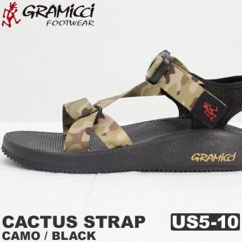 グラミチフットウェア GRAMICCI FOOTWEAR カクタス ストラップ サンダル カモ/ブラック |F