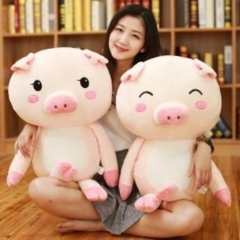 ぬいぐるみ 抱きまくら おもちゃ 動物 豚ちゃん 可愛い ふわふわ もちもち やわらか クッション 癒し系 お祝い ギフト40cm