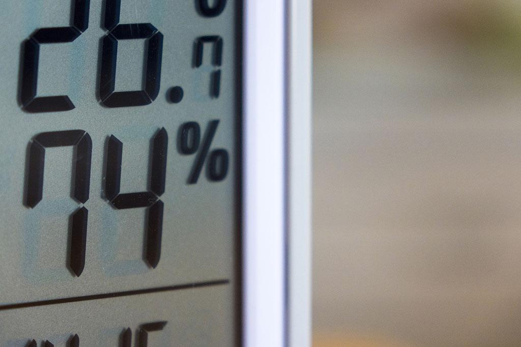 エアコンの湿度計