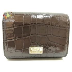 915ba344859c コーチ COACH 2つ折り財布 - ダークブラウン 型押し加工 エナメル(レザー) スペシャル