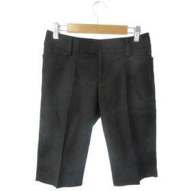 プロポーション ボディドレッシング PROPORTION BODY DRESSING パンツ ハーフ ショート ジップフライ ウール アンゴラ混 1 黒 ブラック /Y2I23 レディース