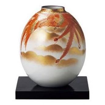 九谷焼 ★★★8号夏目花瓶 赤絵鳳凰紋