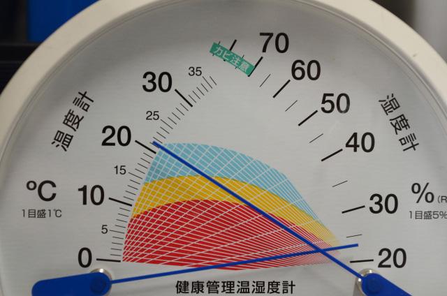 温湿度計の盤面