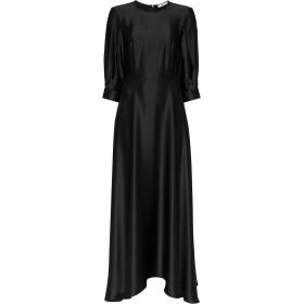 Deitas パフスリーブ シルクドレス - ブラック