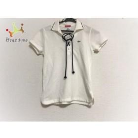 ラコステ Lacoste 半袖ポロシャツ サイズ40 M レディース 白   スペシャル特価 20190624