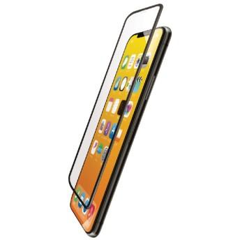 iPhone XS フルカバーガラスフィルム ハイブリッドフレーム付 PMCA18BFLUVRBK ブラック