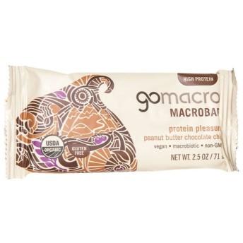 GoMacro オーガニックピーナッツバターチョコレートチップ マクロバー