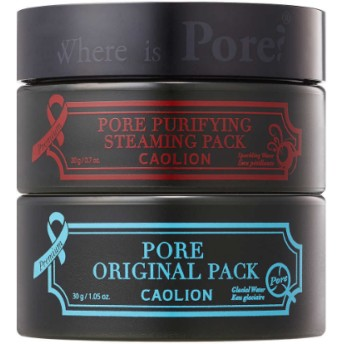 Caolion Hot & Cool Pore Pack Duo Set, 2-pack2クールポアパックデュオ2個セット