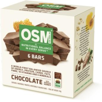 【食事替わりに!】チョコレート&マヌカハニー味バー 6本セット OSM(ワン・スクエア・ミール)