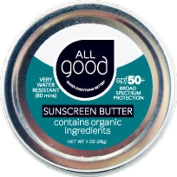 オールグッド サンスクリーンバター (All good SPF 50+ Water Resistant Zinc Sunscreen)