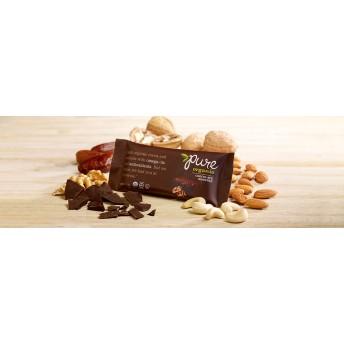 Pure Organic チョコレート ブラウニーナッツバー 5本セット