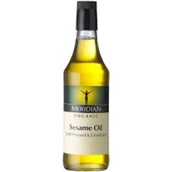 <100%ナチュラルのセサミオイル>ホランド&バレット Holland & BarrettMeridian Organic Sesame Oil コールドプレス オーガニック セサミオイル500ml