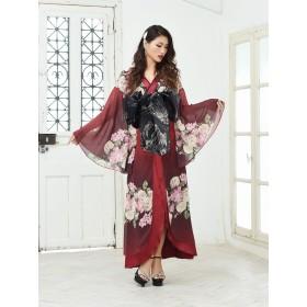 ドレス - Ryuyu キャバ ドレス ドレス キャバ キャバドレス 花魁 コスプレ 衣装 和柄ドレス コンパニオン 衣装 着物 ドレス 流遊 赤振り袖ドレス ダンス衣装 大きいサイズ 小さいサイズ ラウンジドレス セクシードレス
