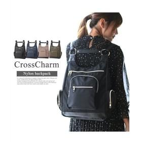 バッグ レディース CrossCharm クロスチャーム ナイロンH型 リュック  ニッセン