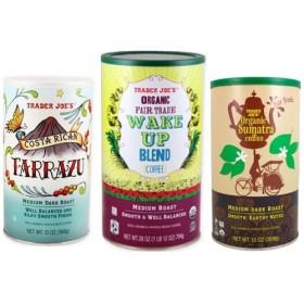 日本未発売・トレーダージョーズ コーヒー3点セット/Trader Joe's Coffee Wake Up Blend、Costa Rican Tarraz、Organic Sumatra