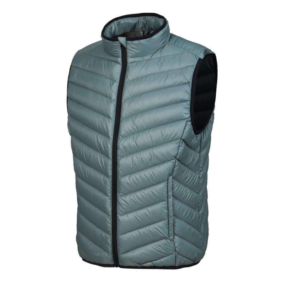 男式超輕羽絨背心-輕便保暖舒適(騎警綠)