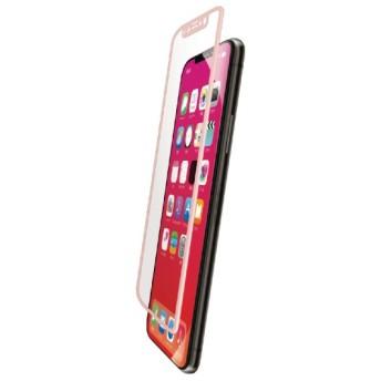 iPhone XR フルカバーガラスフィルム フレーム付 PMCA18CFLGFRPN ピンク