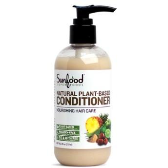 Sunfood, Natural Plant Based,ビーガン ヘアコンディショナー,237ml