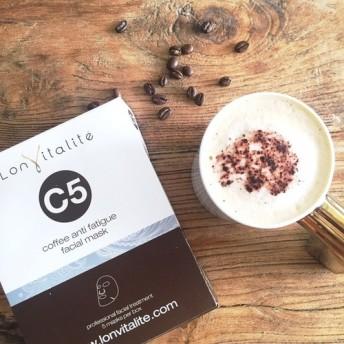 【3箱セット】送料無料♪〔フェイスマスク〕コーヒー C5(5袋入り) 疲労、疲れ目改善&予防