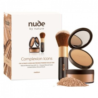nude by nature ファンデーション+ブラシ 3点セット ミディアム