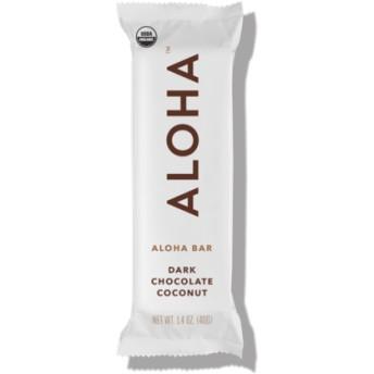 アロハ ダークチョコレートココナッツ スナックバー 12本(Aloha Dark Chocolate Coconut Snack Bar)