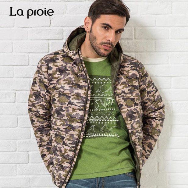 男式超輕印花羽絨服-多色迷彩羽絨外套(橄欖綠迷彩)