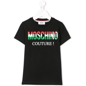 Moschino Kids ロゴ Tシャツ - ブラック