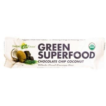 Amazing Grass オーガニックグリーンスーパーフードチョコレートチップココナッツバー