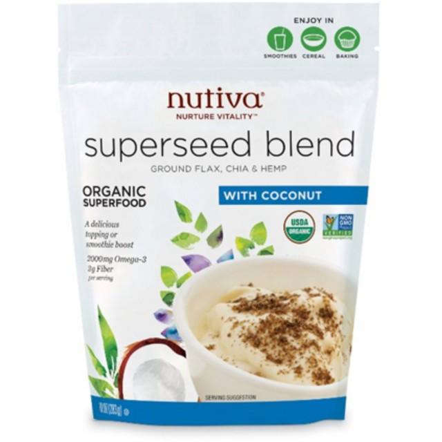 USDA認定 スーパーシードミックス ヌティバ オーガニック 283g(Nutiva Organic Superseed Blend)