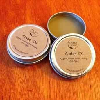 オーガニック・傷・痣・筋肉痛を治癒/天然血行促進剤/28g【ポノ・ソープ/PONO SOAP】琥珀油/Amber Oil