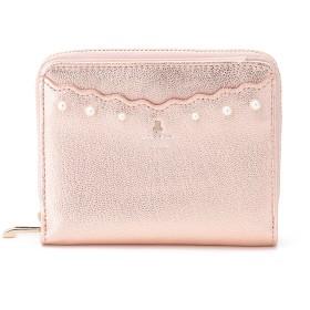 LANVIN en Bleu(BAG) LANVIN en Bleu ランバンオンブルー コキアージュ 二つ折り財布 財布,ピンク