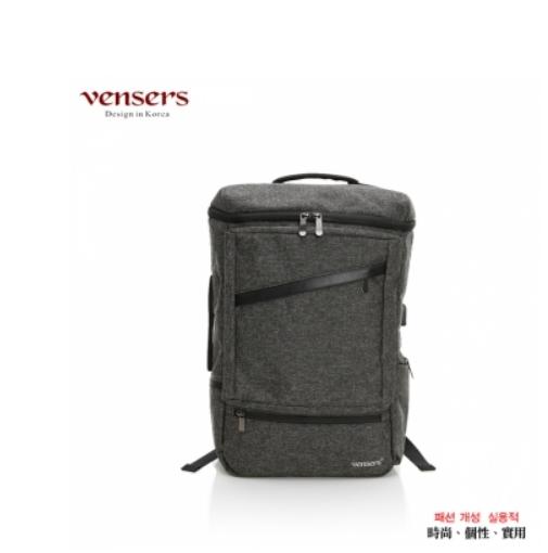 【vensers】 多功能時尚後背包 (S700301黑灰)