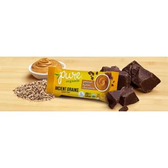 Pure Organic ピーナッツバターチョコレート ナッツバー 5本セット