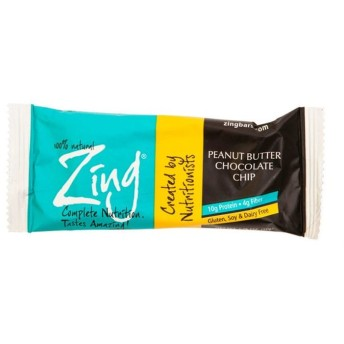 Zing Bars ピーナッツバターチョコレートチップバー