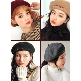 刺繍レタリングベレー帽・全5色・n52129