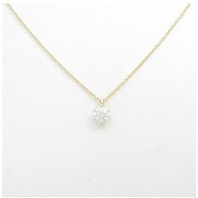 【リメイク】K18YG ダイヤモンドネックレス 0.303ct・H・SI1・EXT H&C
