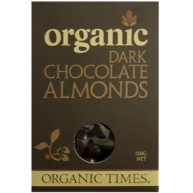 150gx2個 ORGANIC DARK CHOCOLATE ALMONDS アーモンドチョコレート ORGANIC TIMES