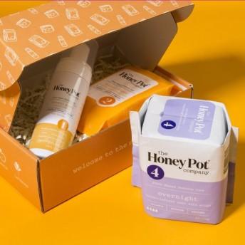 ハニーポット ノーマル フェミニンウォッシュ+ワイプ+夜用ナプキンセット (The honey pot )