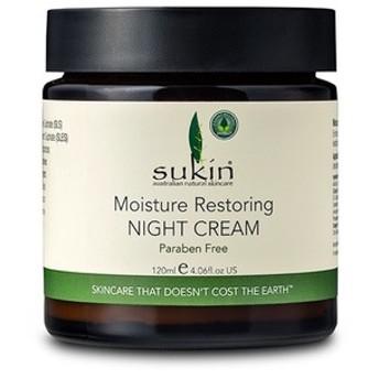 (Sukin)モイスチャライザー レストリング ナイトクリーム 120ml