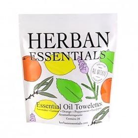 天然素材・除菌ウェットタオル/5つの香り・タオレット【HERBAN ESSENTIALS】