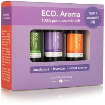 ECO. Best-selling Aroma Trio (エコ ベスト セラー アロマ トリオ)売れ筋エッセンシャルオイル3本セット