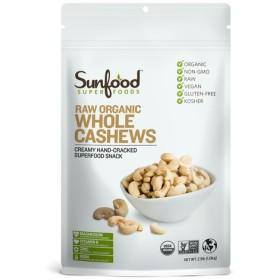 Sunfood, Raw オーガニック ホール カシューナッツ,1.13kg
