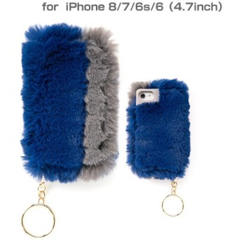 [iPhone 8/7/6s/6専用]salisty(サリスティ)M フェイクファー ダイアリーケース(ロイヤルブルー)M-DC006C 276-899830