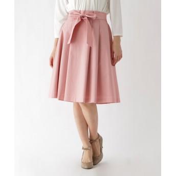 Couture Brooch(クチュールブローチ) 【WEB限定サイズ(SS・LL)あり】リボンベルト付きフレアスカート