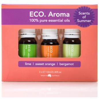 ECO. Scents of Summer Aroma Trio (エコ センス オブ サマー アロマトリオ) 夏にピッタリなエッセンシャルオイル3本セット