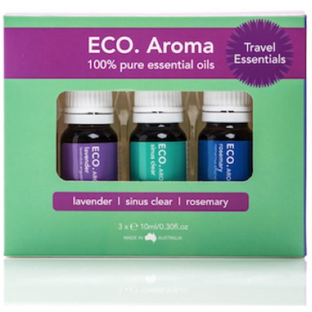ECO. Travel Essentials Aroma Trio (エコ トラベル エッセンシャル アロマ トリオ)旅行に最適エッセンシャルオイル3本セット