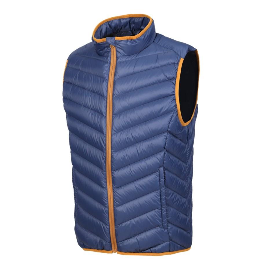 男式超輕羽絨背心-輕便保暖舒適(鐵灰藍)