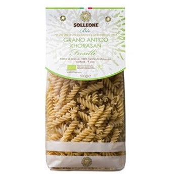 <栄養価の高い古代小麦を使用>オーガニック ブロンズダイス・フジッリ(ホラーサーン小麦)