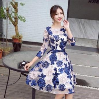 パーティードレス ワンピースドレス 結婚式 ドレス お呼ばれ ワンピース お呼ばれドレス 卒業式 二次会 長袖 20代 30代 H034